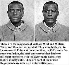 William West and William West, and their role in the history of fingerprint identification