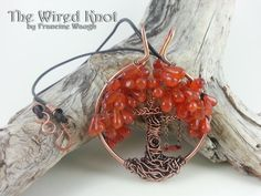 """Celtic Fall Tree of Life Necklace with Swing by #TheWiredKnot on Etsy, $60.00.  Celtic Autumn Tree of Life with swing neclace on an 18"""" leather cord with hand forged hook clasp closure. This is a one of a kind artisan pendant necklace made in the USA. 406 4-26-2014"""