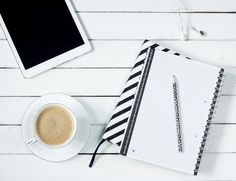Tablet, Notes, Coffee, Work Desk, Headphones, Pencil