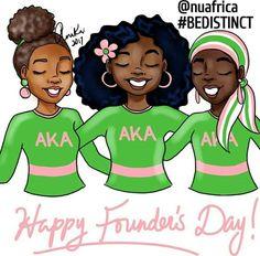 #prettypearlsinc Alpha Kappa Alpha Founders, Kappa Alpha Psi Fraternity, Alpha Kappa Alpha Sorority, Delta Sigma Theta, Aka Founders, Happy Founders Day, Aka Sorority Gifts, Sorority Life, Sorority Fashion