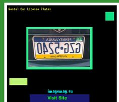 Rental car license plates 180007 - The Best Image Search
