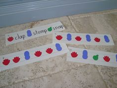 visuals to support learning patterning