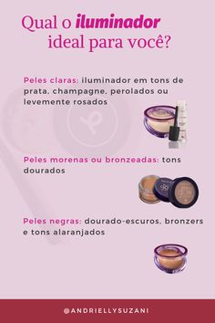 Maquiagem iluminador - A Makeup List, Love Makeup, Beauty Makeup, Kylie Lipstick, Avon, Pretty Hurts, Oils For Skin, How To Make Hair, Spa Day