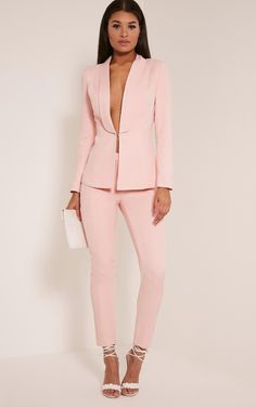 Pink Suit Trousers Up your fashion game and channel masculine feminine style vibes with a pair o...