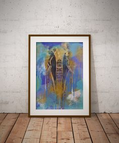 Abstract Paintings, Elephant Paintings, Print Posters, Modern Home Decor, Large Wall Art, Printable Art Prints, Digital Download