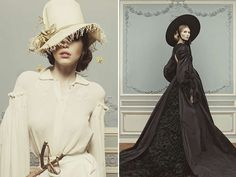 Chic Civil War Catalogs - The Ulyana Sergeenko 2013 Couture Collection Channels Scarlett O'Hara (GALLERY)