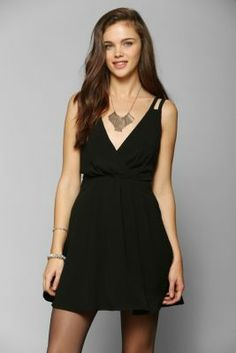 Pins And Needles Crepe Surplice Dress