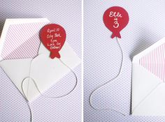Balloon Birthday Invitation but could be easily used as a bookmark :)