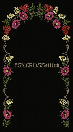 Embroidery Flowers Pattern, Crewel Embroidery, Flower Patterns, Crochet Cross, Filet Crochet, Palestinian Embroidery, Diy Crafts Hacks, Cross Stitch Rose, Prayer Rug