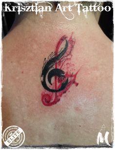 violin key - Krisztian Art Tattoo