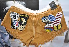 (9) Maverick Trashwhores Patchwork Denim Cut Offs Jeans Shorts - One Teaspoon Top Picks 2013-2014 Womens Fall Winter from ENK Vegas