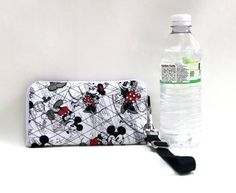 Quilted Disney Fabric Wristlet Wallet Cell by TwistedThreadsQuilts