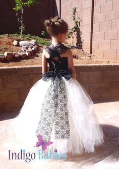 Flower Girl Dress, Weddings, Tutu Dress, Ivory Tutu, Black Lace, Satin Top, Reception, White Ballerina, Bridesmaids Tutu, Wedding