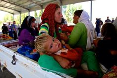 The most beautiful children ever who have experienced hell. #Yezidi families fleeing #Sinjar
