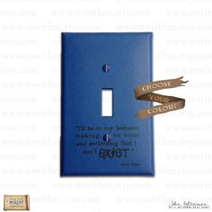 Very fun. Other Harry Potter quotable light switches on this etsy site.