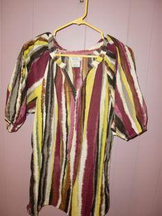 Only Neccesities Southwestern B Western Cowgirl Tunic Women's Shirt Top Medium | eBay