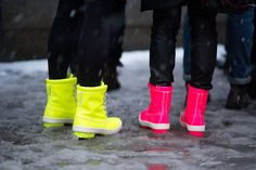 The 50 Best Shoes of Fashion Month Street Style - The Cut  Sperry Topsider x Jeffrey New York boots