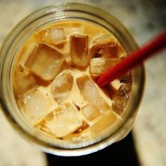 Perfect Iced Coffee. Just put my coffee grounds and water to sit overnight. Really is the best coffee concentrate.
