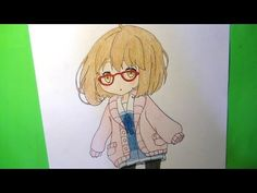 Como dibuja/pintar chibi de Mirai Kuriyama - Kyoukai no Kanata - YouTube