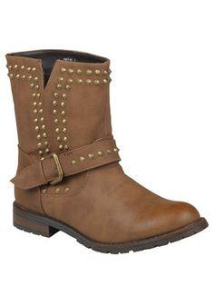 Journee Collection KACY-01-CHEST-060 Footwear,Womens Studded Buckle Boots, Women's Journee Collection Boots Footwear