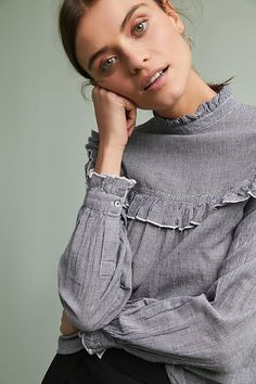 Slide View: 1: Betty High-Neck Blouse