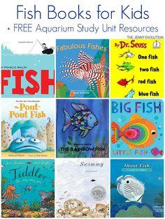 Fish Books for Kids + FREE Aquarium Study Unit Resources