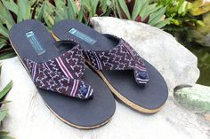 Vegan Men's Sandals in Ethnic Hmong by SiameseDreamDesign on Etsy