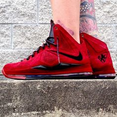 """Nike LeBron X EXT """"Red Wine Suede"""" Customs by Zadeh Kicks"""
