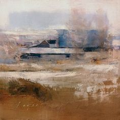 Farm Buildings - Cache Valley, oil on panel, 7 x 7.
