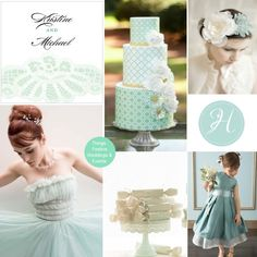 Things Festive Wedding Blog: Mint Wedding Theme: Pantone's Grayed Jade