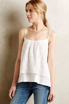Stark X Lace Tier Tank #anthrofave