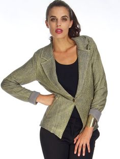 MUST HAVE METALLIC JACKET Metallic Jacket, Affordable Fashion, Must Haves, Chic, Sweaters, Jackets, Shopping, Women, Style