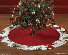 Nature Sings Christmas Tree Skirt
