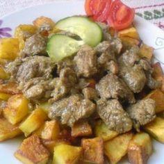Zöldfűszeres-krémsajtos rántott csirkemell Recept képpel - Mindmegette.hu - Receptek Pot Roast, Lunch, Beef, Ethnic Recipes, Food, Carne Asada, Roast Beef, Meal, Eat Lunch