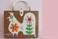 Vintage purse - I made a couple of these for Homemaking projects. They were decopauged wooden boxes.