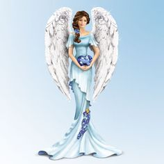 Hope & faith are always needed in the fight against ovarian cancer. Thomas Kinkade inspires an angel figurine that brings promise to the search for a cure. TK's Heavenly Whisper of Hope, a collectible angel figurine from The Hamilton Collection. This figurine is a beautiful symbol of your support - and we'll donate a portion of the proceeds from each sale to ovarian cancer research and awareness programs.