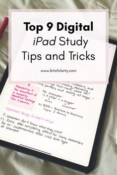 9 Useful iPad Study Notes Tips and Tricks