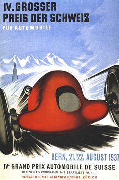 https://flic.kr/p/9hd6Rd | Alte Autowerbung - IV. Grosser Preis der Schweiz für Automobile 1937 | IV Grand Prix Automobile de Suisse