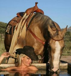 So... you CAN... lead.a horse to water and make him drink!.  Who Knew!?!