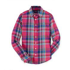 Plaid Cotton Twill Shirt ❤ liked on Polyvore featuring tops, tartan top, tartan shirt, plaid shirt, shirt top and cotton-twill shirt
