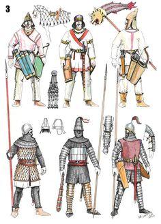 Parthian warriors by Dušan Vasiljevic