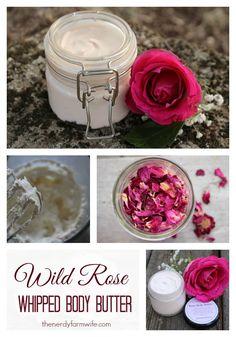 DIY: wild rose whipped body butter