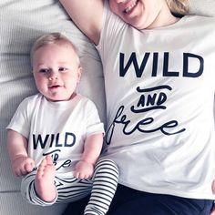Buy a matching Mummy and Me T-Shirt Set from Clouds and Currents. Gifts For Mum, New Baby Gifts, Teething Stages, Mother's Day Gift Sets, First Mothers Day, Unique Birthday Gifts, New Mums, Wild And Free, Free Clothes