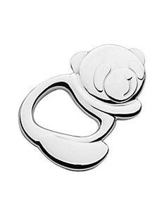 Cunill - Silver Panda Rattle