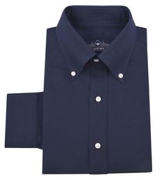 Cotton-Linen: Navy - Bespoke Shirts by Luxire. Custom made to Perfection