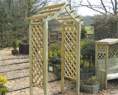 Rutland Arch - Part of our Regency Arches range, the Rutland Arch is a durable, weather and wind resistant arch, made of the best quality timber. Outdoor Spaces, Outdoor Living, Grape Arbor, Garden Arches, Arbors Trellis, Wooden Arch, Down On The Farm, Garden Fencing, Farm Life