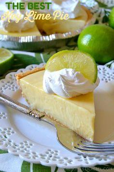 Easy Pie Recipes, Lime Recipes, Cooking Recipes, Key Lime Pie Rezept, Best Key Lime Pie, Key Lime Pie Bars, Key Lime Cheesecake, Keylime Pie Recipe, Pie Dessert