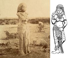 In sculptures from the Maury and Sunga periods (about 300 BC) - men and women wore rectangular pieces of fabric, on the lower part of the body and one on the upper part. Little else.