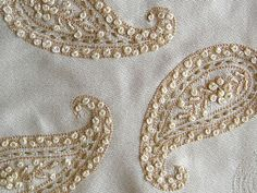 Hand embroidered paisley