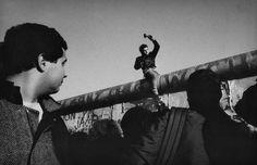 9 novembre 1989, mur de Berlin, photo de R. Depardon